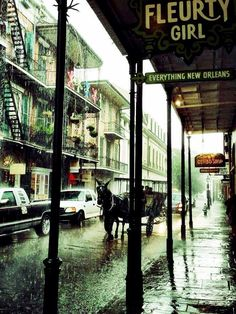fleurty-girl:Rainy day in the Quarter…