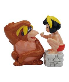Look at this King Louie & Mowgli Salt & Pepper Shakers on #zulily today!