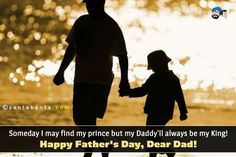 Someday I may find my prince but my Daddy'll always be my King!  Happy Father's Day, Dear Dad!