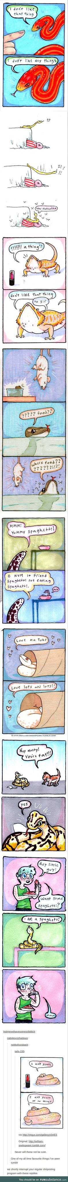 cute reptile comics