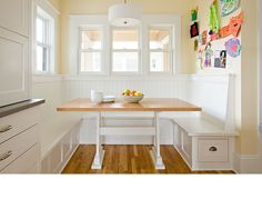 Kitchen booth. Lincoln Barbour Photo - Home Décor