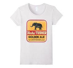 "Women's ""Baby"" Tusker Beer T Shirt Small White BDB TEES https://www.amazon.com/dp/B01HWZUM9E/ref=cm_sw_r_pi_dp_sZLExbRXE5GND"