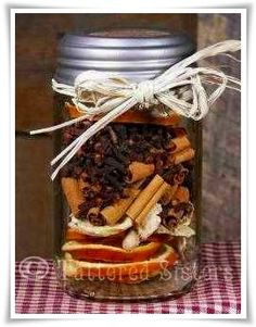 Ginger Citrus Simmering Spices - a great little fall gift idea. Perfect for a housewarming, teacher, or birthday gift! Easy to make and would smell SO good in a house!