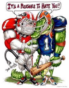 The best rival game in college football — Florida Gators vs Georgia Bulldogs!