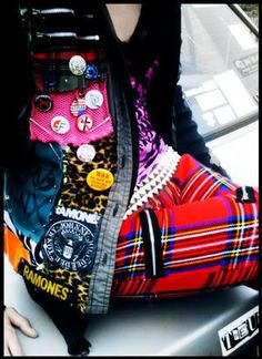 Punk - my mum has pants like these! So cool