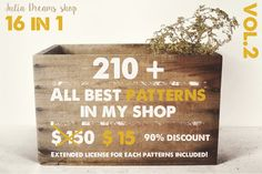 210+ patterns [90% OFF] by Julia Dreams on Creative Market