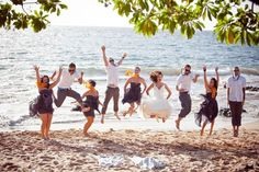 Jump for joy with your bridal party.Photo Credit: Meg Courtney Photography