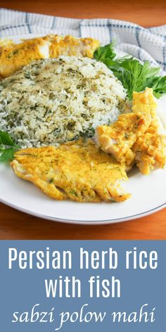 Persian herb rice with fish, 'sabzi polow mahi', is a popular dish served for Nowruz which combines some of the most symbolic foods of the celebration into a delicious, fresh and healthy meal. It's a dish that's delicious any time.