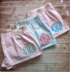 Monogrammed Boxers | Lola Lane Gifts on Etsy (cute and comfy)