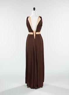 "The Metropolitan Museum of Art - ""Emperial Crown"" (jacket); ""Tonight or Never"" (dress) Elizabeth Hawes  (American, 1903–1971)   Date: spring/summer 1934 Culture: American Medium: silk Back"