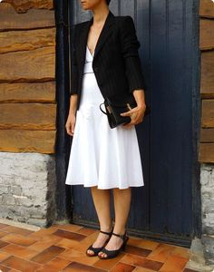 Minimalist, Chic, Style, Fashion, White Dress, Black N White, Shabby Chic, Swag, Moda