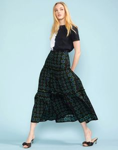 Cameron Cotton Tier Skirt – Cynthia Rowley