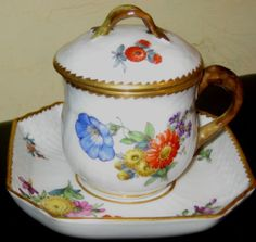 Royal-Copenhagen-covered-chocolate-pot-and-saucer