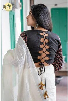 Blouse Back Neck Designs, Cotton Saree Blouse Designs, Simple Blouse Designs, Stylish Blouse Design, Kurti Neck Designs, Saree Blouse Patterns, Corset, Cotton Blouses, Brides
