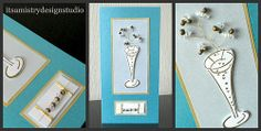 Champagne Glass & Bead Spray Card   Flickr - Photo Sharing!