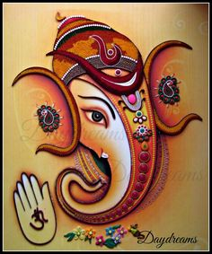 Ganesha - the lord of good beginnings. Ever since I made my first Ganesha , I have received numerous requests to quill. Quilling Animals, Quilling Craft, Quilling Patterns, Quilling Designs, Paper Quilling, Quilling Ideas, Neli Quilling, Quilling Flowers, Rangoli Designs