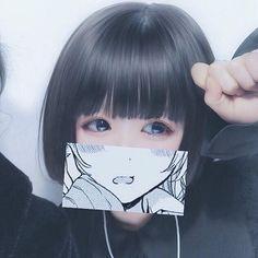 Aesthetic Japan, Aesthetic Girl, Aesthetic Anime, I Love Girls, Cute Girls, Short Blue Hair, Trajes Kylie Jenner, Skinny Girl Body, Horse Girl Photography