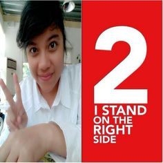Stand on the right side