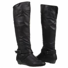 I need some cute black flat boots. Preferably leather, preferably on sale.