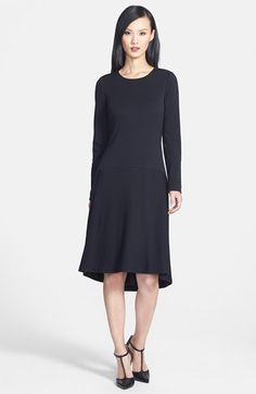 Classiques Entier® Wool Blend High/Low Drop Waist Dress available at #Nordstrom