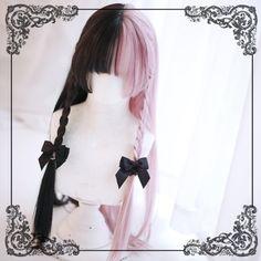 Dream Holic -Serenade- Lolita Wig - New Site Kawaii Hairstyles, Pretty Hairstyles, Wig Hairstyles, Straight Hairstyles, Anime Wigs, Anime Hair, Kawaii Wigs, Lolita Hair, Lolita Makeup