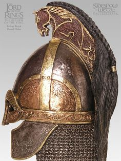 Helm of the Royal Guard Arm Armor, Body Armor, Hard Hats, Jrr Tolkien, Fantasy Armor, Anglo Saxon, One Ring, Dark Ages, Middle Earth