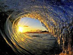 Sun water sea sky