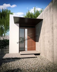 Modern front door with sidelight