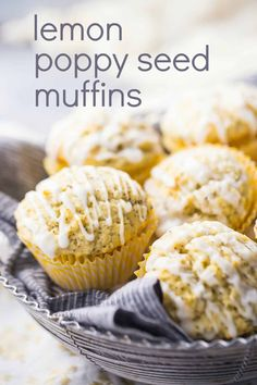LOVED these lemon poppy seed muffins! They were so easy to make and they baked up tall and moist, with tons of bright lemon flavor & a little crunch from the poppy seeds. Lemon Poppyseed Muffins, Lemon Muffins, Poppy Seed Muffins Recipe, Muffin Recipes, Cupcake Recipes, Dessert Recipes, Desserts, Biscuits, Salty Cake