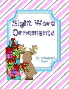 Editable: Sight Word Ornaments FREEBIE!
