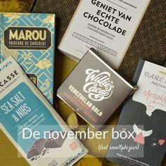 De novemberbox van vorig jaar met als thema 'veel smeltplezier' ... ohh  Time flies.. De repen voor de novemberbox van dit jaar liggen gelukkig alweer te popelen om in gepakt worden! :) #tbt #chocolade #waarblijftdetijd