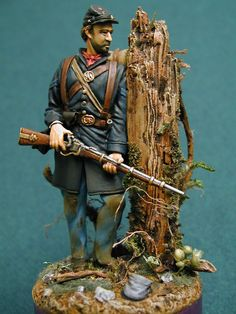 Civil War Sharpshooter 1862 by John Din. Daily Dose for 13june2014 from the Michigan Toy Soldier & Figure Co.