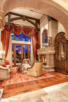 DIY Home Decor, collection of superb room decorating to have a look at today, pin reference number 1436210206 Luxury Rooms, Luxury Living, Fireplace Design, Fireplace Mantel, Fireplaces, Beautiful Interiors, Beautiful Homes, Rich Home, Tuscan House