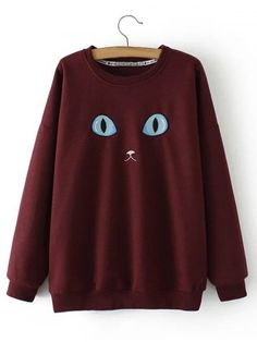 GET $50 NOW   Join RoseGal: Get YOUR $50 NOW!http://www.rosegal.com/plus-size-hoodies/plus-size-cat-embroidery-sweatshirt-870584.html?seid=7123053rg870584