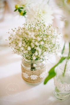 Thank goodness Gypsophila made a come-back...simple & beautiful by Wedding & Events Floral Design www.weddingandevents.co.uk image from Joe Dodsworth Photography