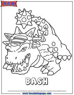 Skylanders Trap Team coloring pages - Wildfire   Character ...