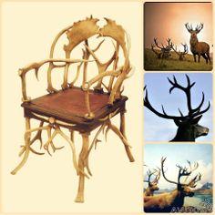 Кресло охотничье антикварное