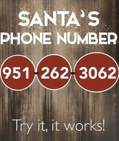 We got a hold of Santa's person phone number! Prank Call Numbers, Real Phone Numbers, Numbers To Call, Christmas Quotes, Christmas Holidays, Christmas Crafts, Christmas Decorations, Christmas Ideas, Holiday Ideas