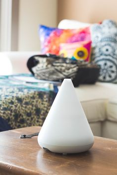 This aroma diffuser uses ultrasonic technology to create a soothing and calming experience. No heat or chemicals needed. Simply combine tap water and a few drops of your favorite essential oil, and you can instantly enjoy a comfortable, natural and healthy aromatic environment.