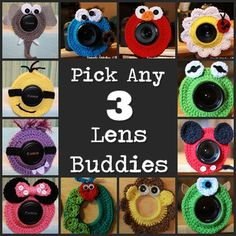Camera Lens Buddy Pick 3 by SimpleStitchesLB on Etsy, $25.00