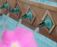 Bronze fountain scupper series Water Walls, Water Features, Pools, Fountain, Entryway, Bronze, Fonts, Water Sources, Entrance