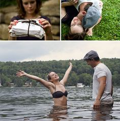movie themed engagement photos- not the notebook though lol.