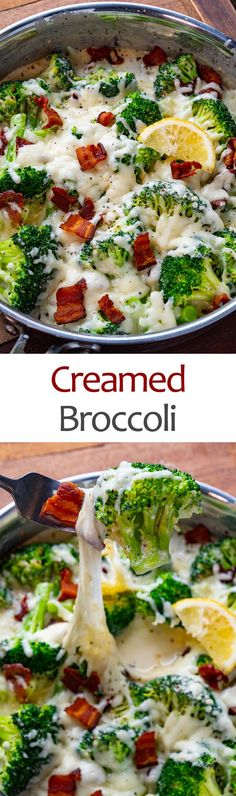 Creamed Broccoli Vegetable Side Dishes, Side Dishes Easy, Vegetable Recipes, Broccoli Cauliflower Recipes, Best Potato Soup, Asiago Cheese, Seasonal Food, Just Cooking, Family Meals