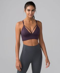 2ffdb4c5ad Reach the fullest expression of your poses in this long-line bra with a  strappy