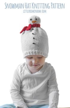 The easy and adorable Snowman Hat Knitting Pattern makes the cutest little winter  hat for your 07104810eda5