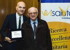 Marco Eugenio Di Giandomenico is awarded with the TARGA VIVISALUTE AWARD 2018 (XIV Edition) (Milan, Confcommercio, Jan. 30, 2018). In the photo Marco Eugenio Di Giandomenico and Elio Borgonovi. (Ph. Oscar Covini)