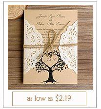 lace and burlap rustic wedding invitations