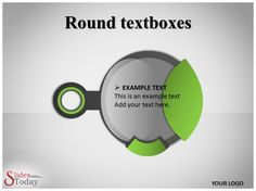 Round text boxes Template