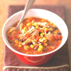 Definitely gotta try this recipe!Its a slow cooker so it must have a ton of flavor.Maybe even tortilla strips on top!! Sour cream,perhaps!?Looks delish! http://www.familycircle.com/recipe/chipotle-chicken-chili/