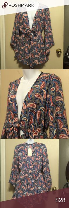 Spotted while shopping on Poshmark: Jodifl Paisley V- neck self tie Romper! #poshmark #fashion #shopping #style #jodifl #Dresses & Skirts